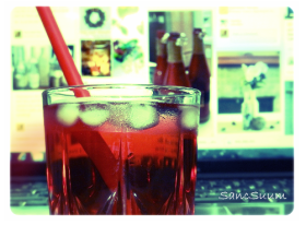 I made some cranberry juice for myself while surfing on Pinterest