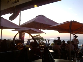 Bandstand, Mumbai 2013..Sipping some Iced Tea and watching a summer sunset while strategizing for India International Jewelery Week.