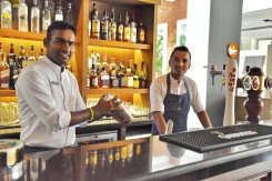 Looking for a full bar service rather than just a bartender? Samson left, Laxman right
