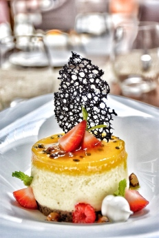 My Dessert - Passion fruit cheesecake by Pastry Chef Ajith
