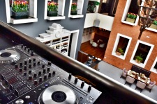 The DJ section of the restaurant