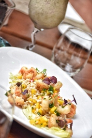 My Salad - Barley Prawn Salad with pearl barley mango salsa and thai dressing