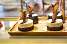 Mini black forest cake and mini chocolate mousse cake - I absolutely LOVE everything miniature and was so happy to receive all the information about this new trend
