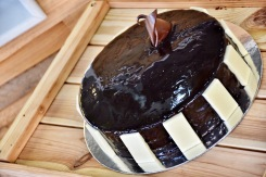Perfect for any celebration, it's moist and fudgy and will keep well for 4-5 days. Let me tell you I'm drooling right now!