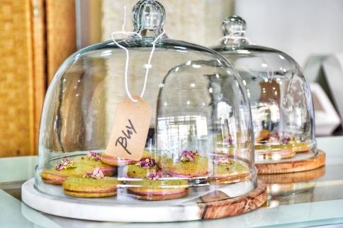 Pistachio and rose cookies