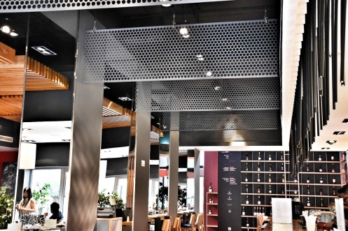 Vibrant restaurant interior