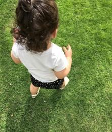 Aarvi meets grass, grass meets Aarvi